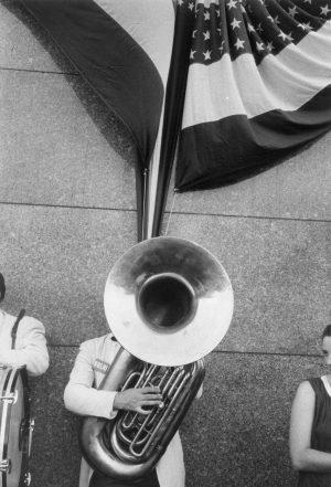 Robert Frank, Comizio politico, Chicago, 1956